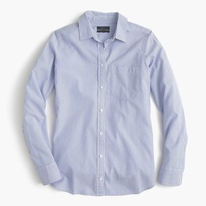 J.Crew Women's Boy Oxford Pinstripe Button Down